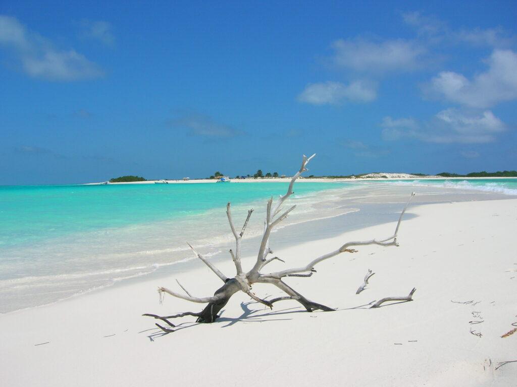 Playa de arena blanca de los Roques